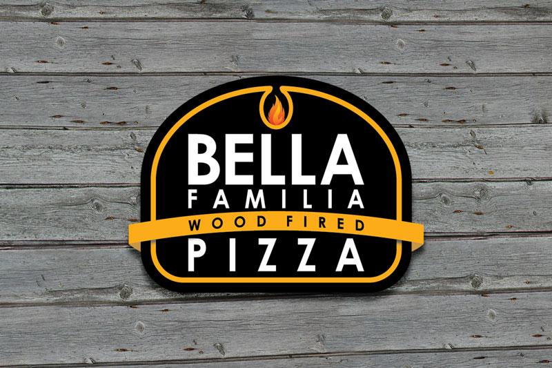 Logo DesignBella Familia Pizza
